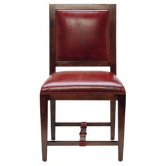 Walnut & Leather Dining Chair