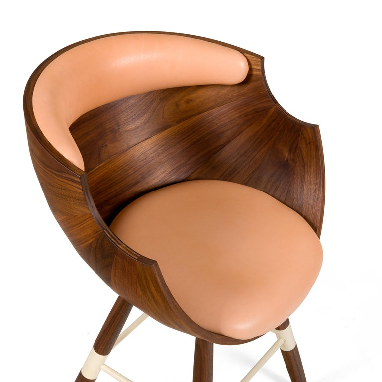 Contemporary Walnut and Leather