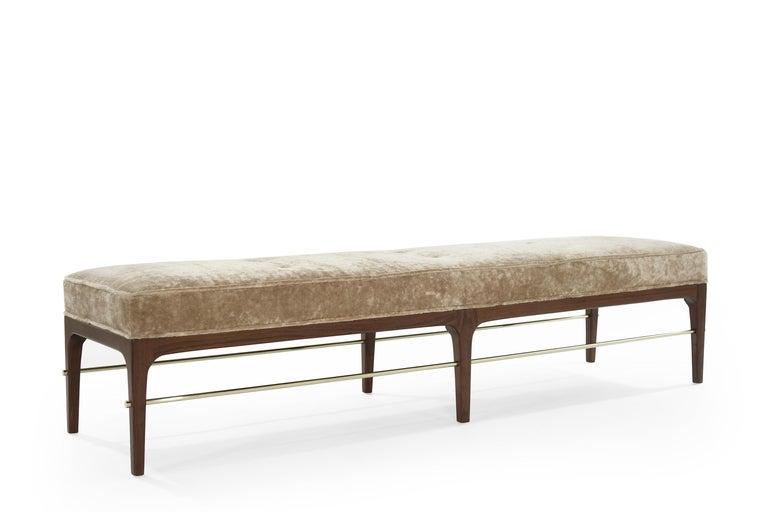 Mid-Century Modern Walnut Linear Bench by Stamford Modern For Sale
