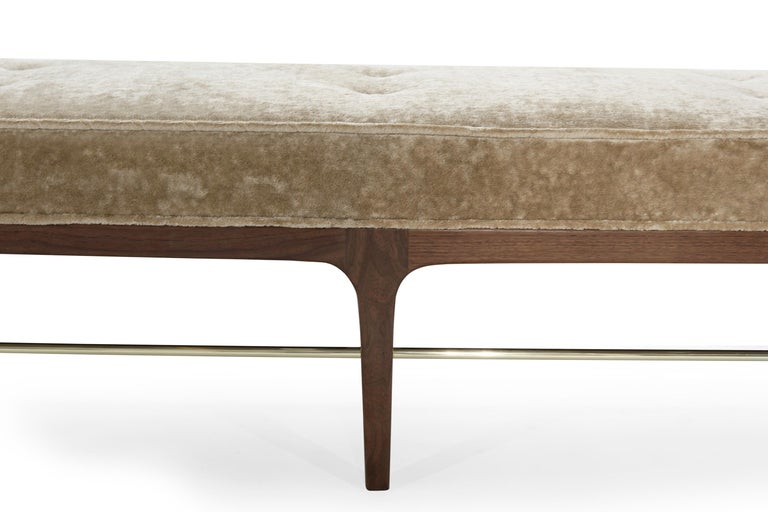 Walnut Linear Bench by Stamford Modern For Sale 1