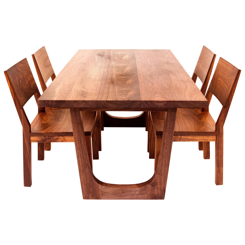 Walnut Lolita Dining Table, Customizable Wood