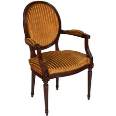 Walnut Louis XVI Style Armchair