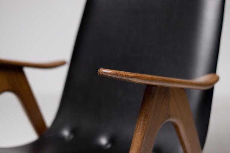Walnut Lounge Chair by Louis van Teeffelen For Sale 5