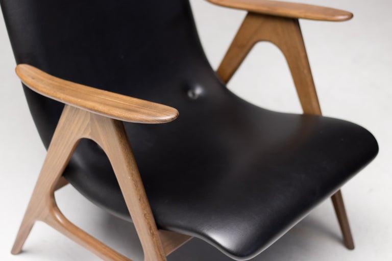 Dutch Walnut Lounge Chair by Louis van Teeffelen For Sale
