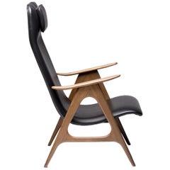 Walnut Lounge Chair by Louis van Teeffelen