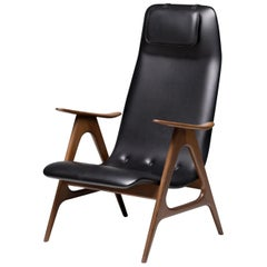 Walnut Lounge Chair by Louis van Teeffelen