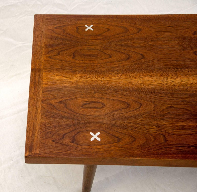 American Of Martinsville Mid Century Coffee Table: Walnut Mid Century Coffee Or Cocktail Table By American Of