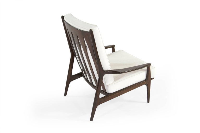 20th Century Walnut Milo Baughman, Archie Lounge Chairs, 1950s For Sale
