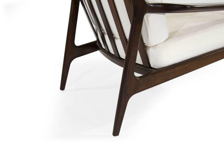 Walnut Milo Baughman, Archie Lounge Chairs, 1950s For Sale 1
