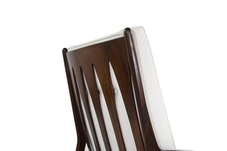 Walnut Milo Baughman, Archie Lounge Chairs, 1950s For Sale 2