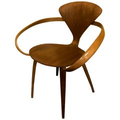 "Walnut Molded Plywood Armchair / ""Cherner Chair"" by Norman Cherner"