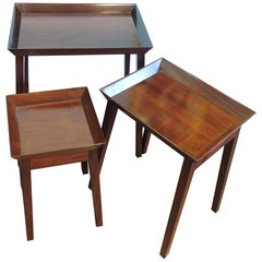 Walnut Nesting Tables Set