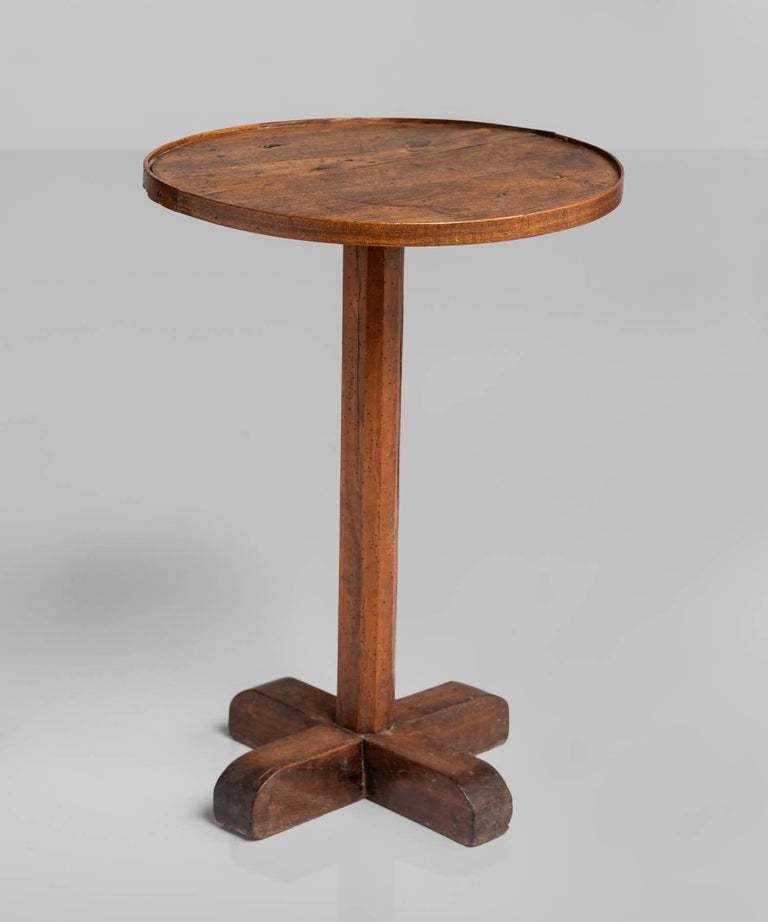 Walnut and Oak Primitive Side Table, France, circa 1860 3