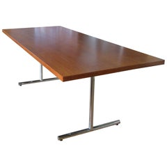 Walnut 'Omega' Desk or Dining Table by Hans Eichenberger for Hausmann & Hausmann