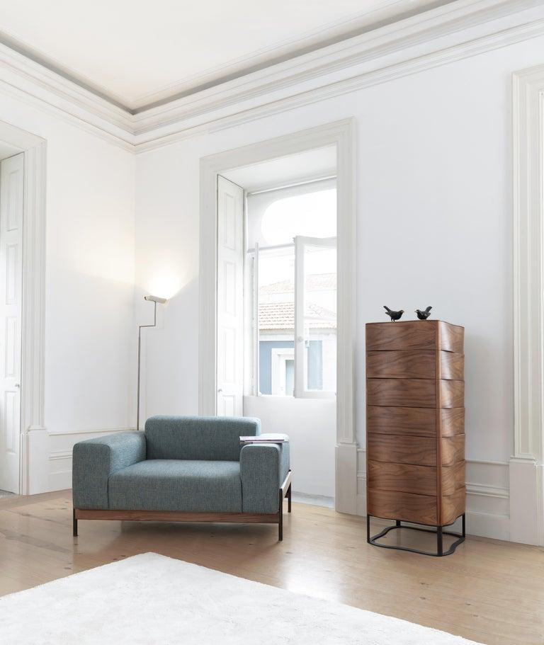 Portuguese Walnut or Oak Chest of Drawers Dresser Chiffonier For Sale