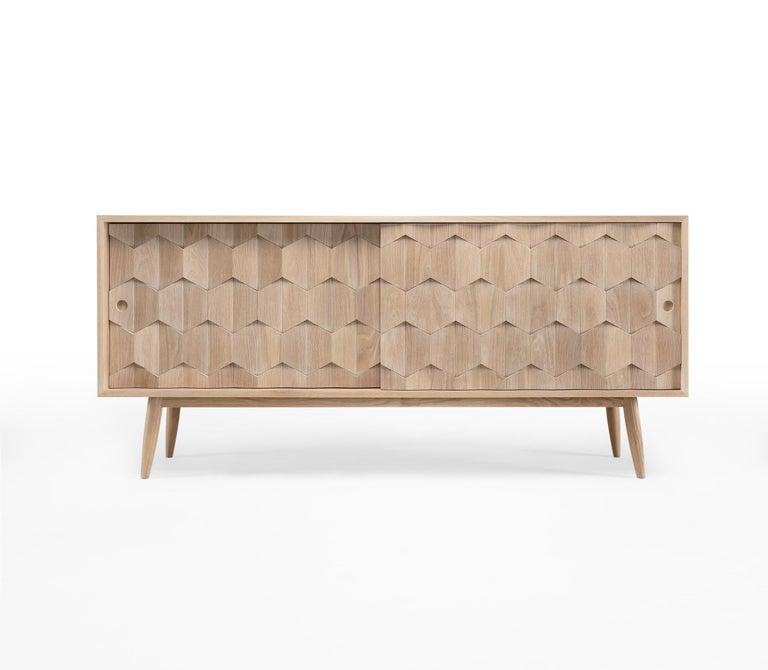 Scandinavian Modern Walnut or Oak Sideboard Credenza For Sale