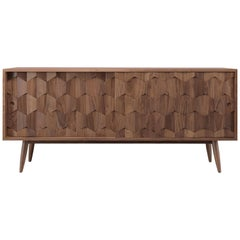 Walnut or Oak Sideboard Credenza