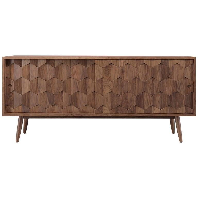 Walnut or Oak Sideboard Credenza For Sale