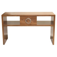 Walnut or Rosewood Console with Bronze Handle