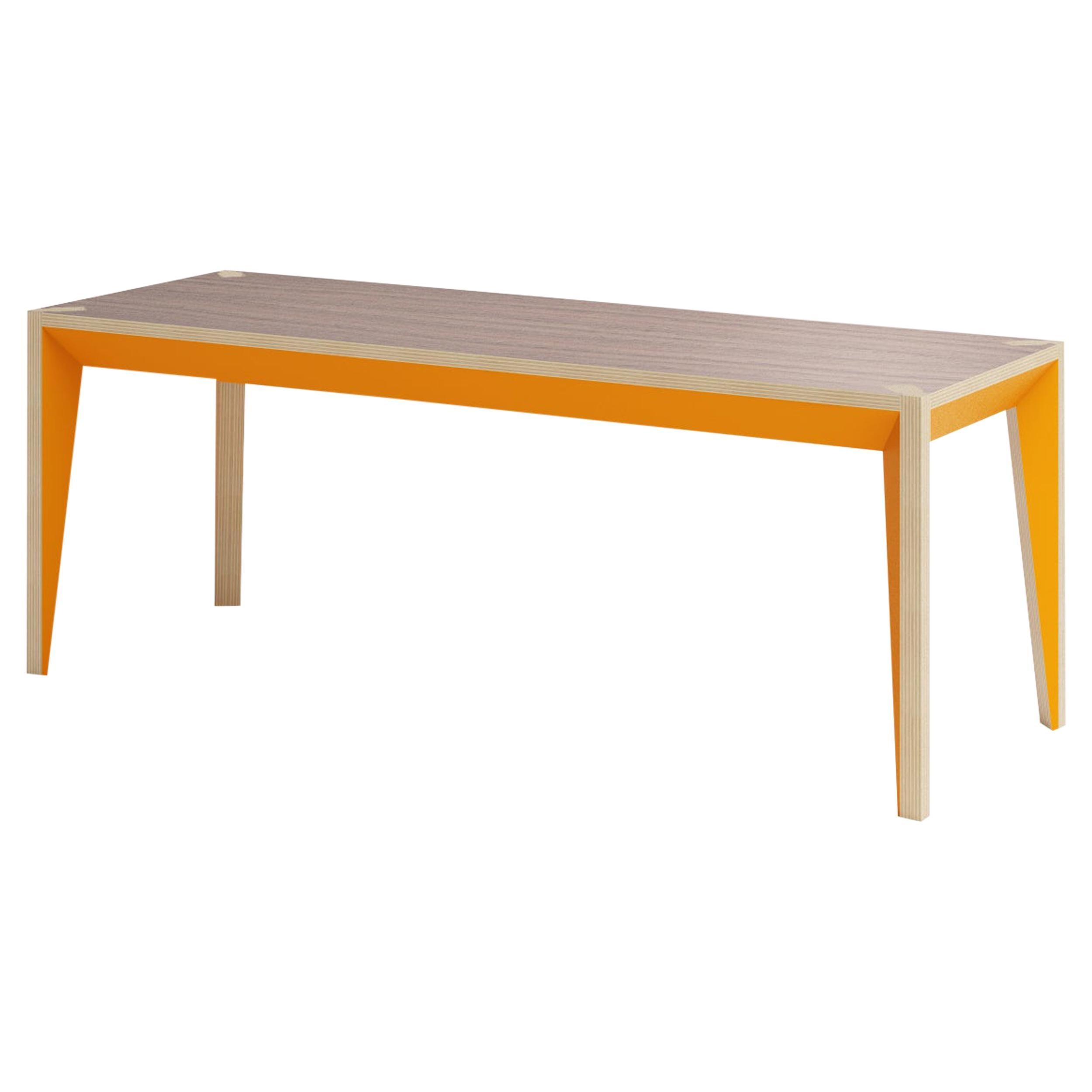 Walnut Orange MiMi Bench by Miduny, Made in Italy