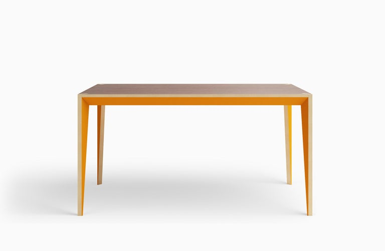 Walnut Orange MiMi Table by Miduny, Made in Italy For Sale 5