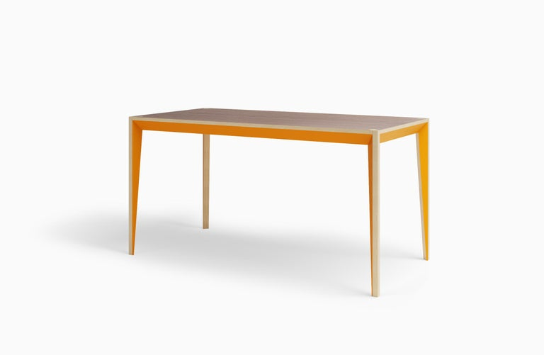 Walnut Orange MiMi Table by Miduny, Made in Italy In New Condition For Sale In Brooklyn, NY