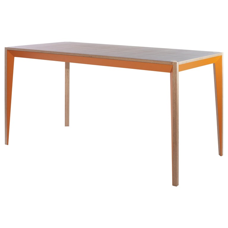 Walnut Orange MiMi Table by Miduny, Made in Italy For Sale
