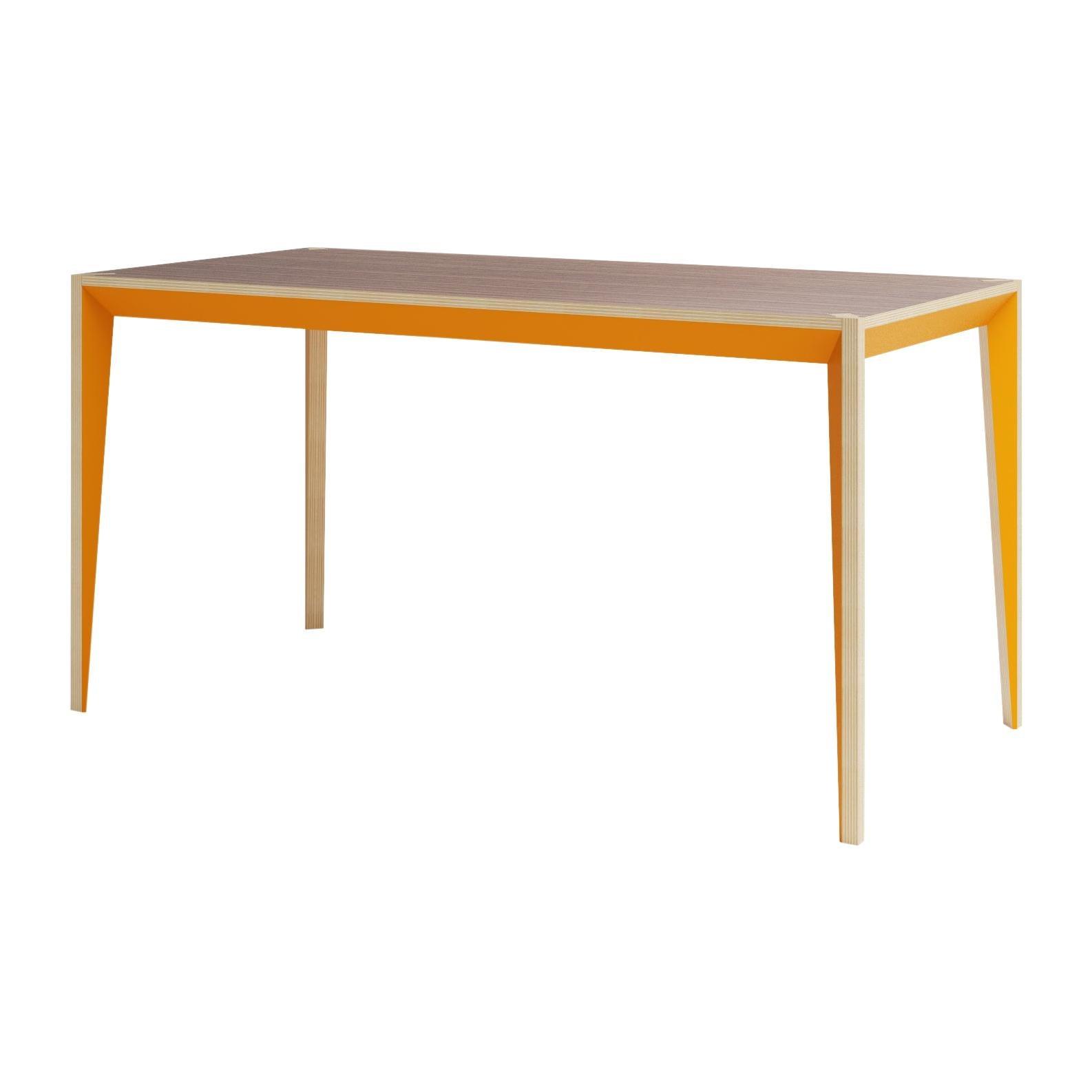 Walnut Orange MiMi Table by Miduny, Made in Italy