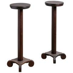Walnut Pedestal, America, 20th Century