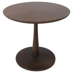 Walnut Pedestal Based Side Table by Drexel for the Declaration Collection