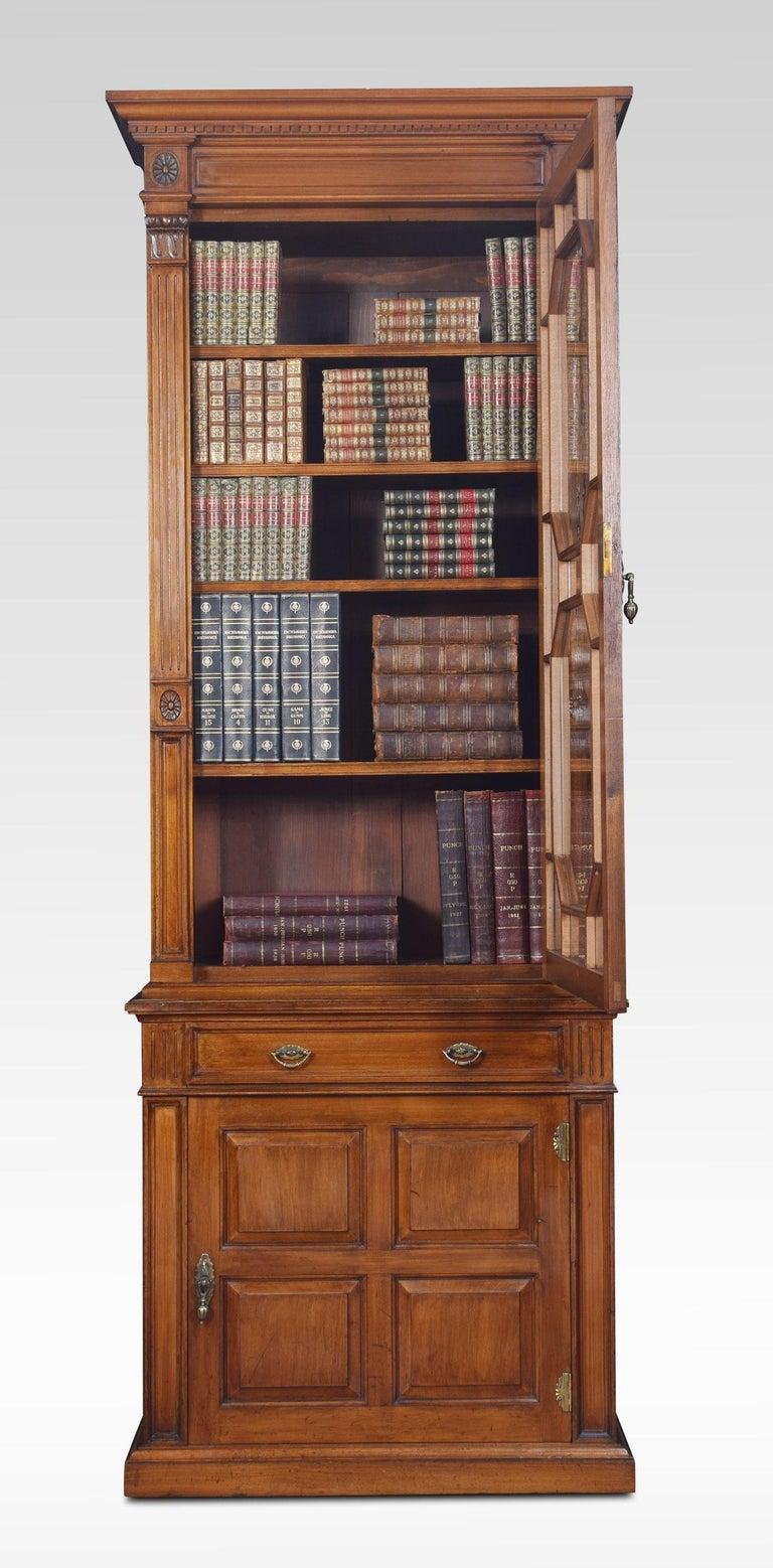 British Walnut Pier Bookcase For Sale