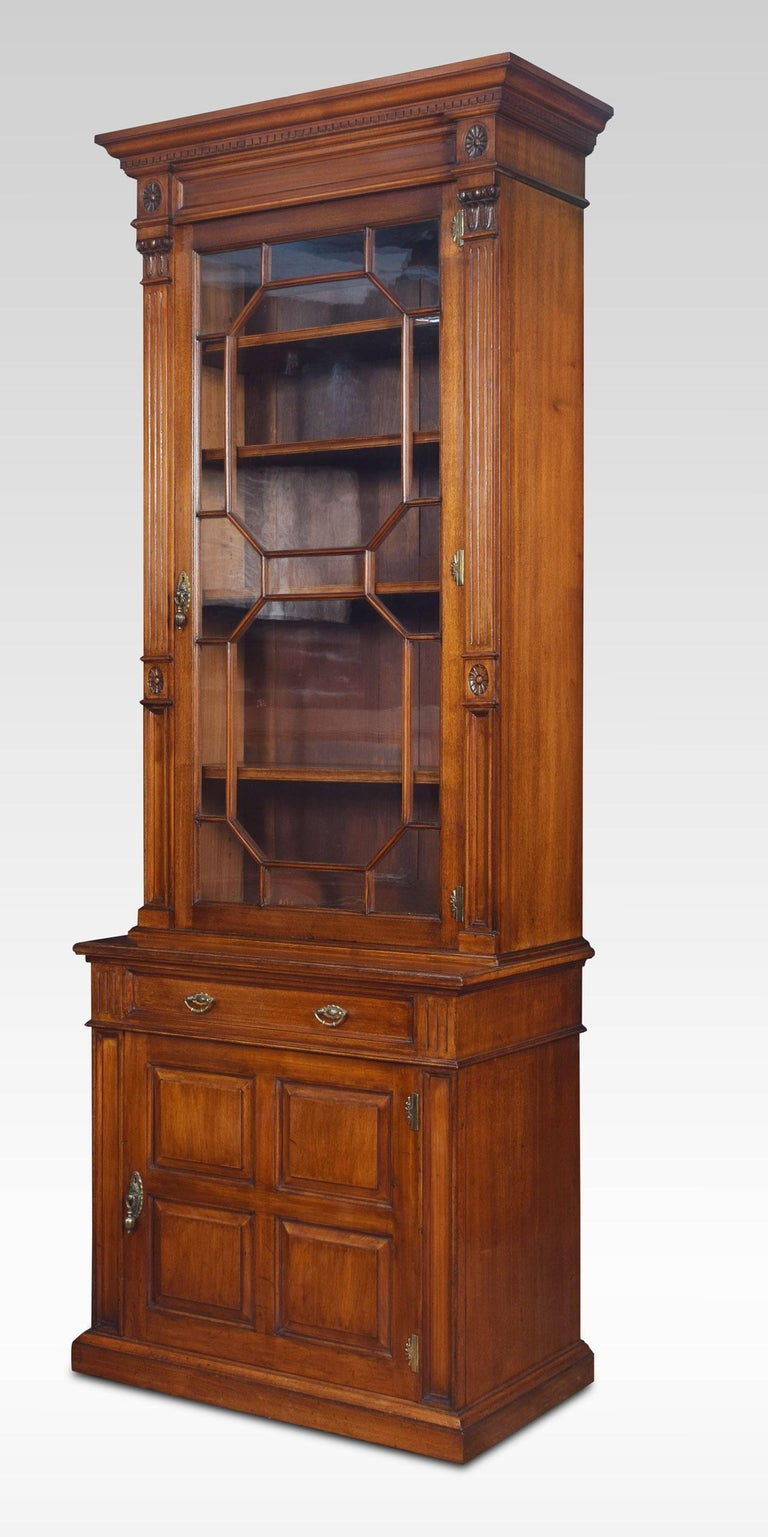 Walnut Pier Bookcase In Good Condition For Sale In Cheshire, GB