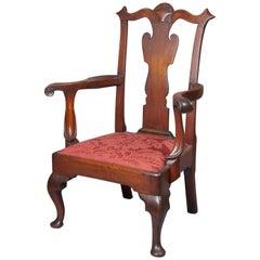 Walnut Queen Anne Armchair