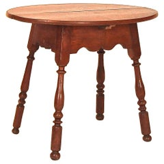 Walnut Queen Anne Oval Top Tavern Table
