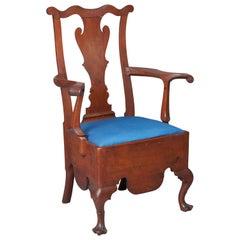 Walnut Queen Anne Potty Chair