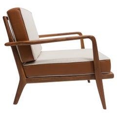 Walnut Rail Back Armchair by Mel Smilow