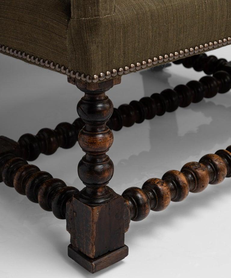 Late 18th Century Walnut Reclining Armchair, France circa 1780 For Sale