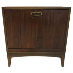 Walnut Record Cabinet by Lane Altavista / Pull Down Door Style '2'