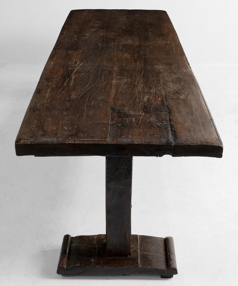 French Walnut Refectory Table For Sale