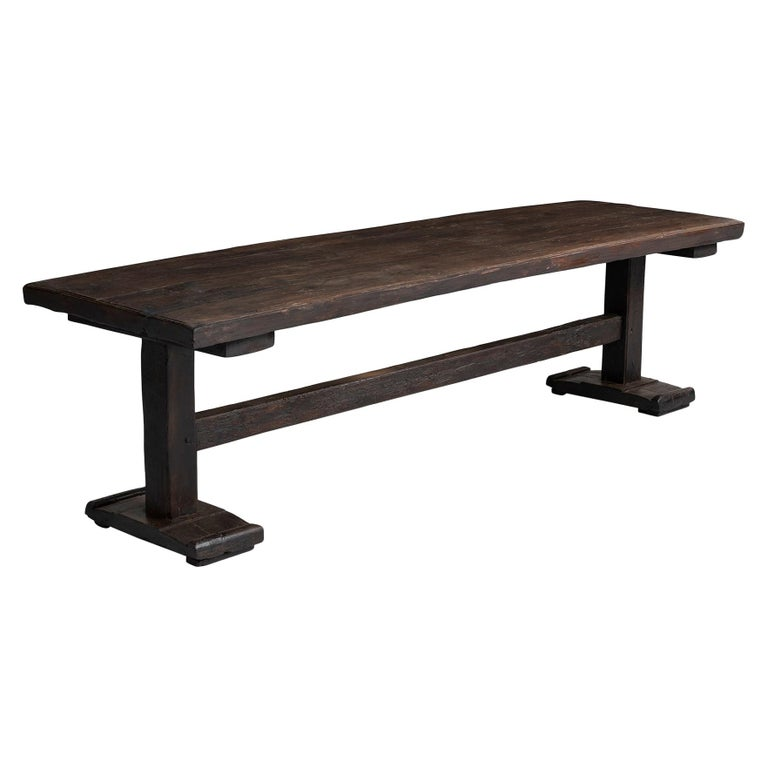 Walnut Refectory Table For Sale