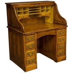 Walnut Roll Top Desk