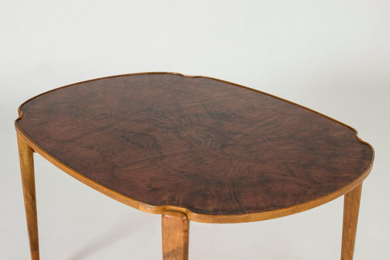 Swedish Walnut Root Coffee Table by Axel Larsson For Sale