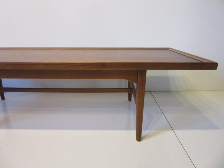 20th Century Walnut Rosewood Coffee Table by Kipp Stewart for Drexel Declaration  For Sale