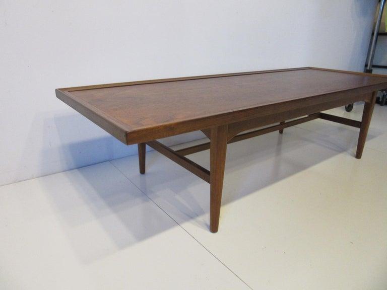 Walnut Rosewood Coffee Table by Kipp Stewart for Drexel Declaration  For Sale 1