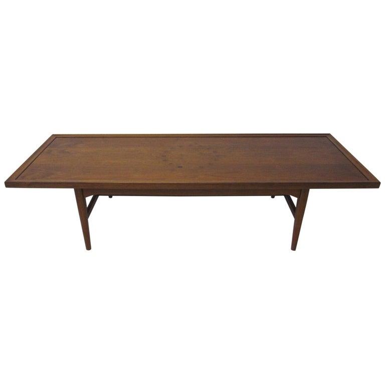Walnut Rosewood Coffee Table by Kipp Stewart for Drexel Declaration  For Sale