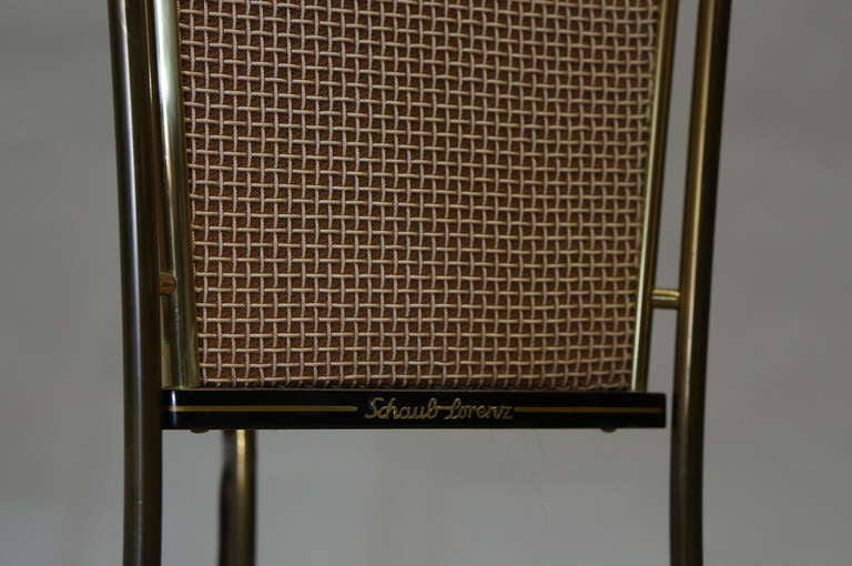 Metal Walnut Schaub Lorenz End Table Speakers For Sale