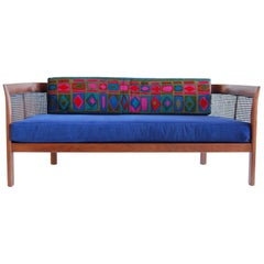 Walnut Settee by Erwin Lambeth