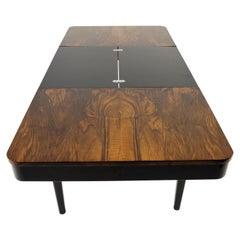 Walnut Side Table by Jindrich Halabala for Universal Prostejov, 1954