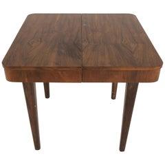 Walnut Side Table by Jindrich Halabala, 1950s