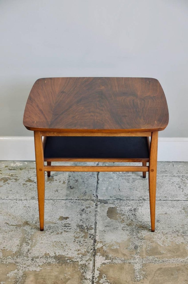 American Walnut Side Table by Lane For Sale